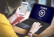 Concetto di Taurus Zodiac Horoscope Sign Galaxy immagini stock libere da diritti