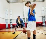 Concetto di Team Athlete Basketball Bounce Sport della vettura fotografia stock libera da diritti