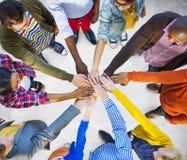 Concetto di Team Corporate Teamwork Collaboration Assistance fotografie stock