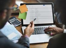 Concetto di Team Partner Business Discussion Communication Fotografia Stock Libera da Diritti