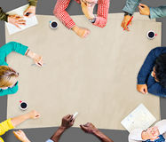 Concetto di Team Teamwork Discussion Meeting Planning Fotografie Stock Libere da Diritti