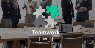 Concetto di Team Teamwork Partnership Alliance Unity Fotografie Stock Libere da Diritti