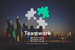 Concetto di Team Teamwork Partnership Alliance Unity Immagini Stock