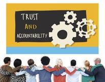 Concetto di Team Teamwork Support Friendship Huddle illustrazione vettoriale