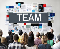 Concetto di Team Up Alliance Collaboration Corporate Immagini Stock