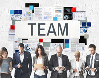 Concetto di Team Up Alliance Collaboration Corporate Fotografie Stock