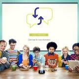 Concetto di Team Using Technology Browsing Working immagine stock libera da diritti