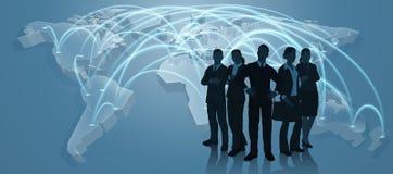 Concetto di Team World Trade Map Logistics di affari Fotografia Stock Libera da Diritti