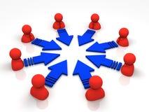 Concetto di Teamworking illustrazione vettoriale