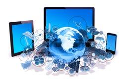 Concetto di tecnologia Fotografie Stock Libere da Diritti