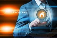 Concetto di tecnologia di affari di Internet del mercato immobiliare della gestione di investimento della proprietà Immagine Stock Libera da Diritti