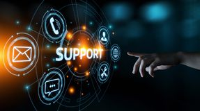 Concetto di tecnologia di affari di Internet di servizio di assistenza al cliente del centro del supporto tecnico fotografia stock