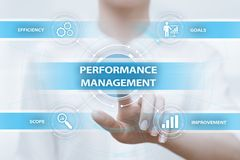 Concetto di tecnologia di affari di miglioramento di efficienza della gestione delle prestazioni immagine stock
