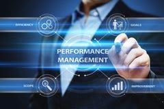 Concetto di tecnologia di affari di miglioramento di efficienza della gestione delle prestazioni immagini stock libere da diritti
