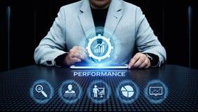 Concetto di tecnologia di affari di miglioramento di efficienza della gestione delle prestazioni fotografia stock