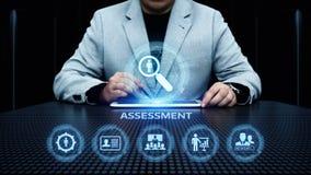 Concetto di tecnologia di analisi dei dati di affari di misura di valutazione di analisi di valutazione fotografie stock libere da diritti
