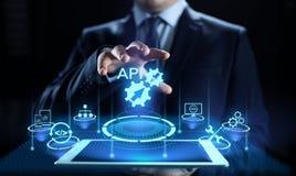Concetto di tecnologia di API Application Programming Interface Development fotografie stock libere da diritti