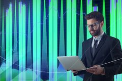 Concetto di tecnologia, di comunicazione e di commercio Immagini Stock Libere da Diritti