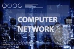 Concetto di tecnologia del collegamento di Digital della rete di computer Fotografie Stock