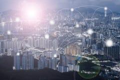 Concetto di tecnologia del collegamento e della rete Fotografia Stock