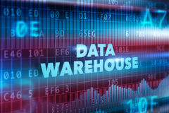 Concetto di tecnologia del data warehouse Fotografie Stock