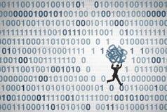 Concetto di tecnologia della frattura di dati illustrazione di stock