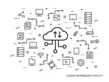 Concetto di tecnologia della nuvola illustrazione di stock