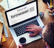 Concetto di tecnologia della pagina Web di lettura rapida del motore di ricerca del browser Immagine Stock Libera da Diritti