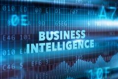 Concetto di tecnologia di business intelligence Fotografie Stock Libere da Diritti