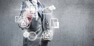 Concetto di tecnologia di Internet dell'affare globale Immagini Stock Libere da Diritti