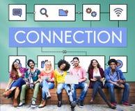 Concetto di tecnologia di Internet di dati di connessione di rete fotografie stock libere da diritti