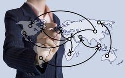 Concetto di tecnologia di logistica Fotografia Stock