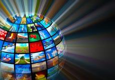 Concetto di tecnologia di mezzi d'informazione Fotografia Stock