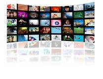 Concetto di tecnologia di produzione di HD TV Fotografia Stock