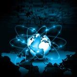 Concetto di tecnologia di produzione di Internet e della televisione Fotografie Stock