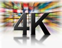 concetto di tecnologia di risoluzione 4k immagini stock