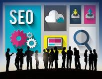 Concetto di tecnologia di SEO Internet Online Optimization Search Fotografia Stock Libera da Diritti