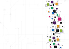 Concetto di tecnologia di vettore Linee e quadrati collegati Immagine Stock Libera da Diritti