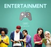 Concetto di tecnologia digitale di hobby di divertimento di spettacolo di gioco Fotografia Stock Libera da Diritti