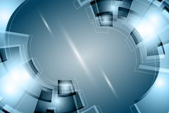 Concetto di tecnologia digitale sottragga la priorità bassa illustrazione vettoriale