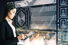 Concetto di tecnologia e di finanza immagini stock