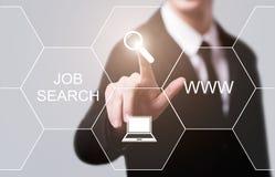 Concetto di tecnologia di Internet di affari di carriera di Job Search Human Resources Recruitment Immagini Stock Libere da Diritti