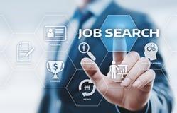 Concetto di tecnologia di Internet di affari di carriera di Job Search Human Resources Recruitment Fotografia Stock Libera da Diritti
