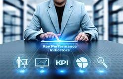 Concetto di tecnologia di Internet di affari dell'indicatore di efficacia chiave di KPI fotografie stock