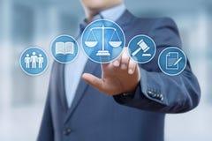 Concetto di tecnologia di Legal Business Internet dell'avvocato di diritto del lavoro fotografia stock libera da diritti