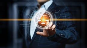 Concetto di tecnologia di Legal Business Internet dell'avvocato di diritto del lavoro immagini stock
