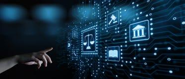 Concetto di tecnologia di Legal Business Internet dell'avvocato di diritto del lavoro immagine stock libera da diritti