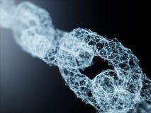 Concetto di tecnologia di rete di collegamento di Blockchain royalty illustrazione gratis
