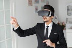 concetto di tecnologia di visione 3d, vetri virtuali Fotografia Stock Libera da Diritti