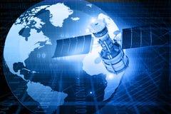 Concetto di telecomunicazioni via satellite Fotografia Stock